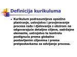 definicija kurikuluma