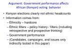 argument government performance affects african kenyan voting behavior