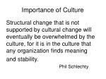 importance of culture