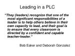 leading in a plc