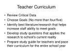 teacher curriculum