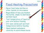 food heating precautions