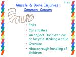 muscle bone injuries common causes