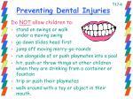 preventing dental injuries