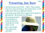 preventing sun burn