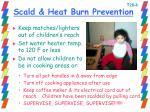 scald heat burn prevention