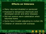 effects on veterans