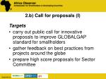2 b call for proposals i