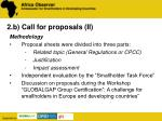 2 b call for proposals ii