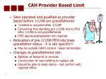 cah provider based limit13