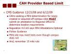 cah provider based limit15