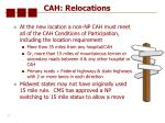 cah relocations