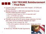 cah tricare reimbursement final rule
