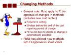 changing methods