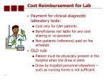 cost reimbursement for lab