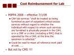 cost reimbursement for lab46