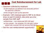 cost reimbursement for lab50