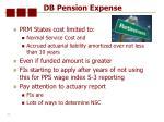db pension expense