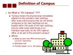 definition of campus