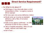 direct service requirement23