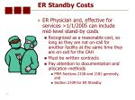 er standby costs