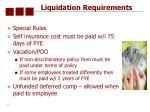 liquidation requirements68