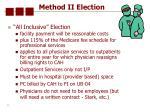method ii election