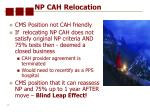np cah relocation