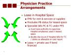 physician practice arrangements76
