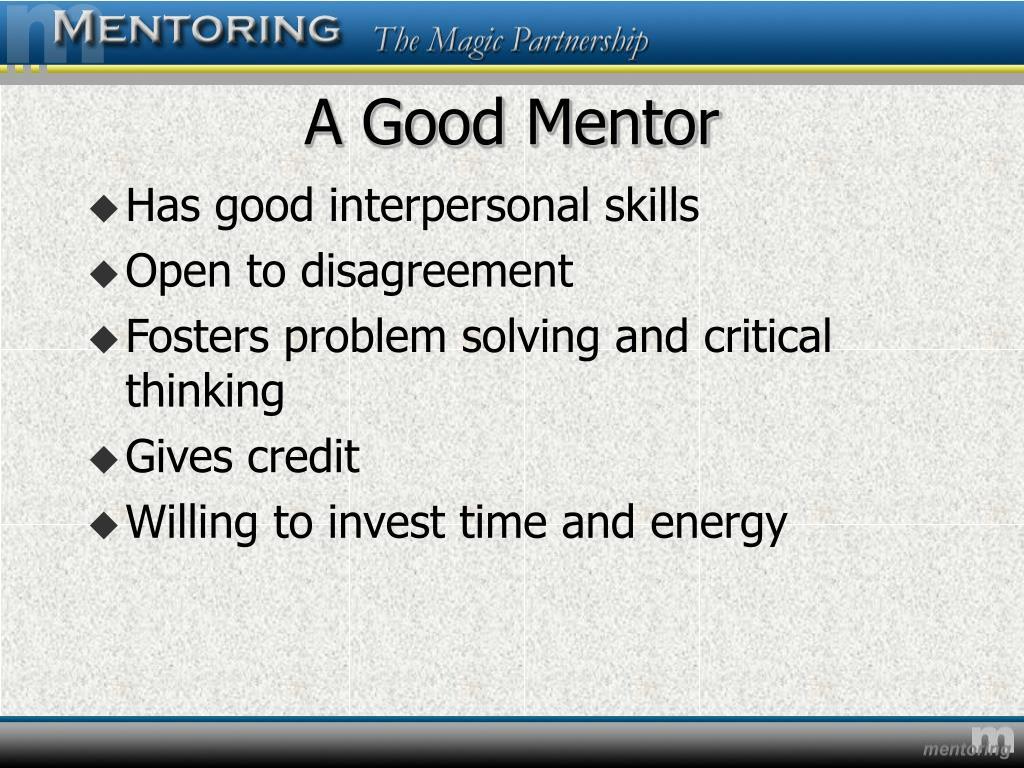 A Good Mentor
