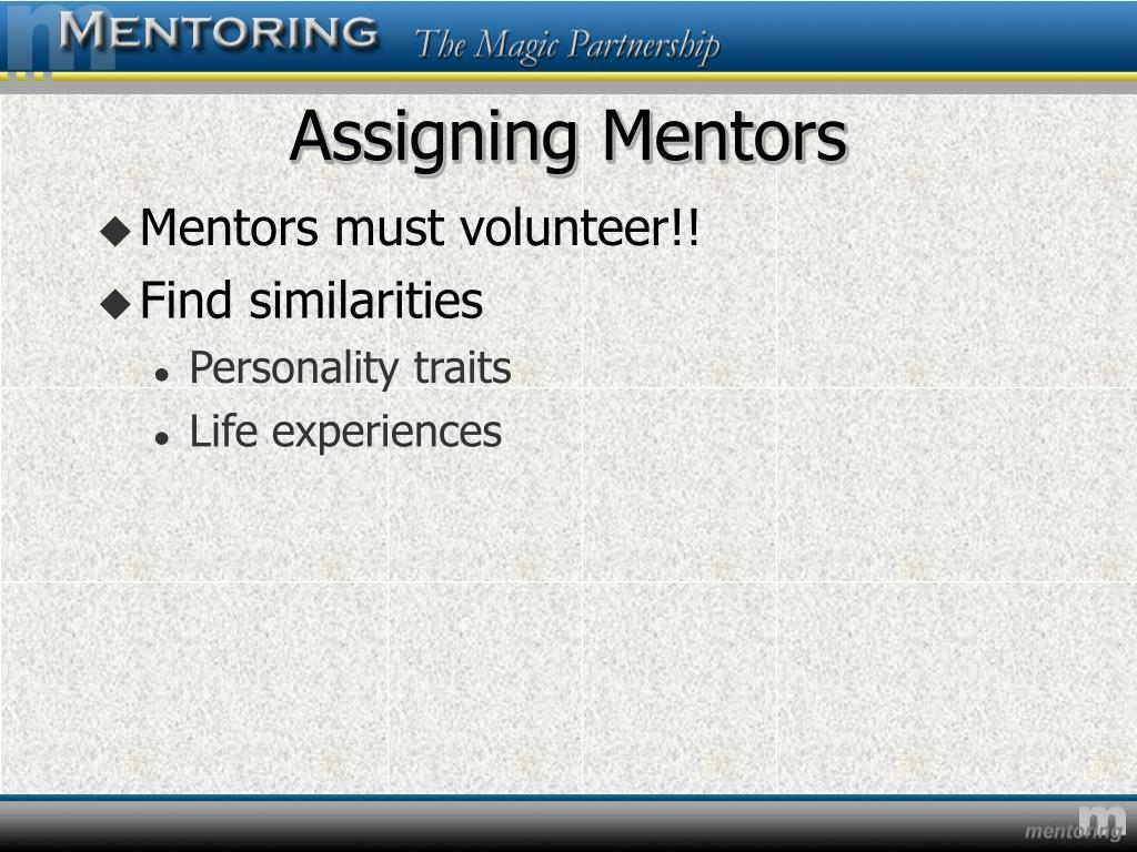 Assigning Mentors