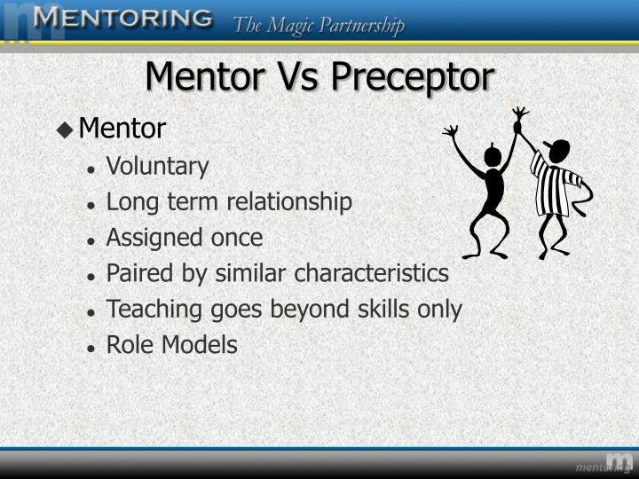 Mentor vs preceptor3