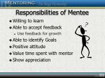 responsibilities of mentee