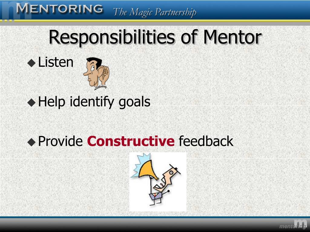Responsibilities of Mentor