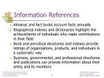 information references