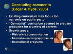 concluding comments edgar hyde 2005