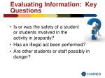 evaluating information key questions
