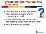 evaluating information key questions47