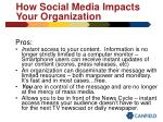 how social media impacts your organization