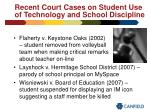 recent court cases on student use of technology and school discipline37