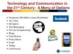 technology and communication in the 21 st century a menu of options