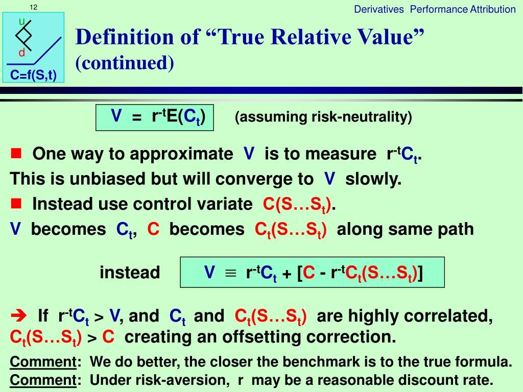 "Definition of ""True Relative Value"""