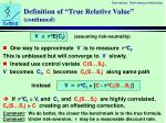 definition of true relative value continued