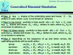 generalized binomial simulation