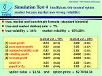 simulation test 4 inefficient risk neutral option market because market uses wrong volatility