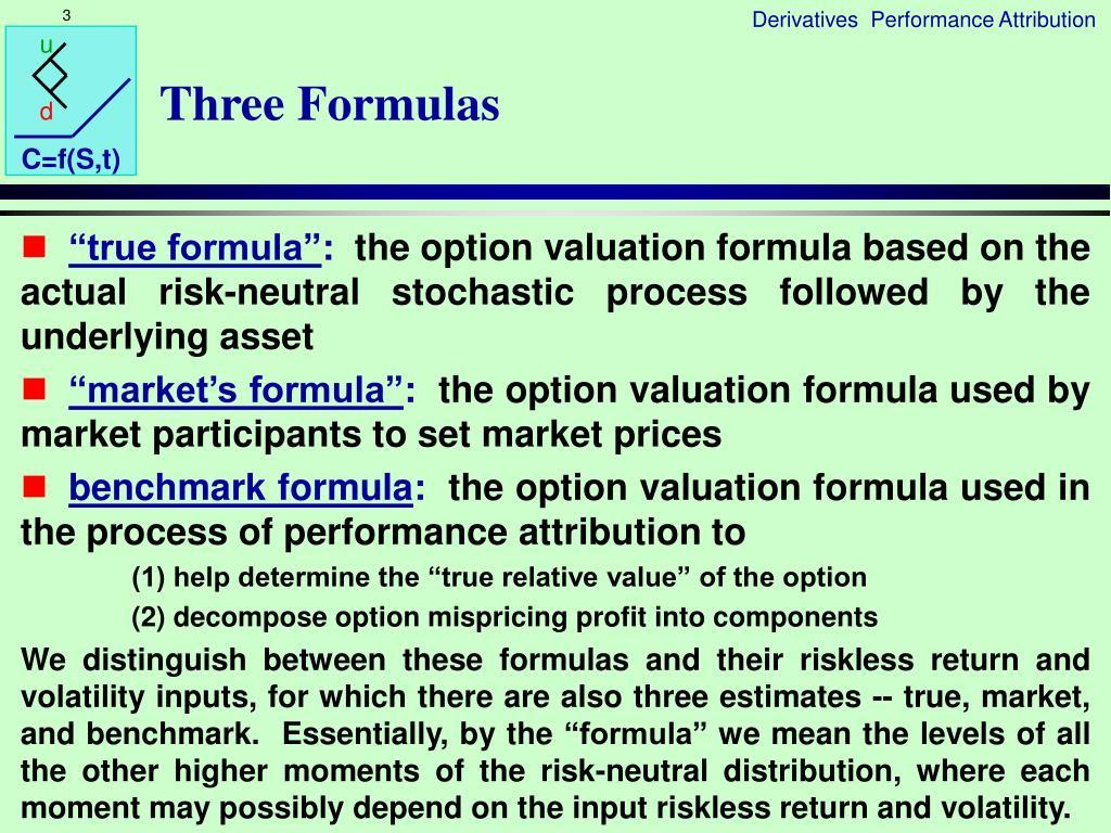 Three Formulas