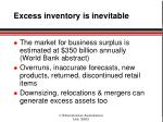 excess inventory is inevitable