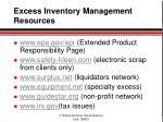 excess inventory management resources