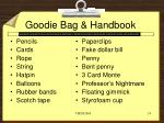 goodie bag handbook