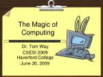 the magic of computing